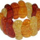 Genuine Amber Stretch Bracelet a381