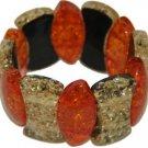 Genuine Amber Stretch Bracelet a382