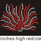 Cheer pom pom Red and Clear stones