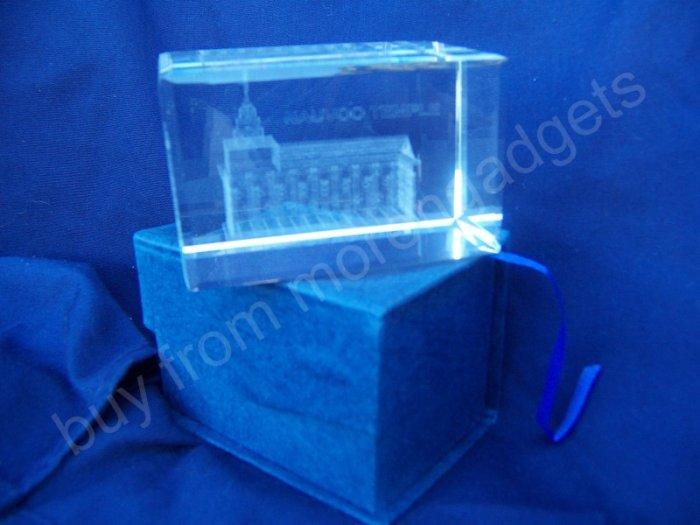 Nauvoo Temple Crystal Cube