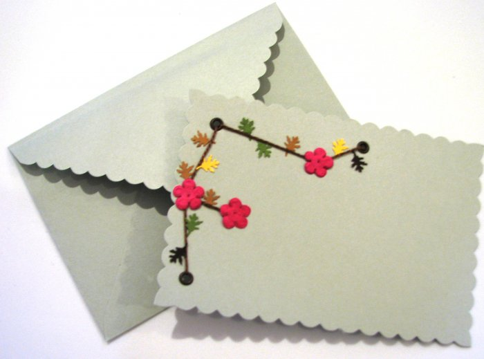 Scrapbook style flower design cards
