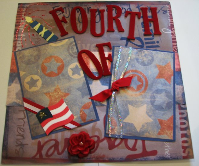 4 of July pre-made scrapbook pages 12x12 package of 2