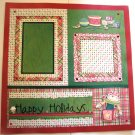 Christmas pre-made scrapbook pages 12 x 1 package of 2