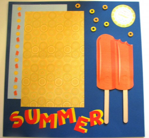 Summer pre-made scrapbook page 12 x 12