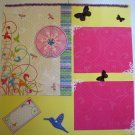 Premade scrapbook page 12 x 12 girl