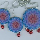 Tie Dye Blues necklace & earrings