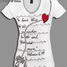 "NOTW White Christian ""ANCHORED"" Juniors or Woman T-Shirt Med or Lrg"