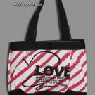 "New NOT OF THIS WORLD Pink/White Christian ""LOVE"" School Tote Bible shoulder bag"