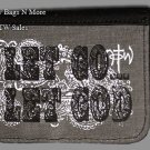 "NOT OF THIS WORLD NWT Christian NOTW ""LET GO, LET GOD"" ID TriFold Gray Wallet"