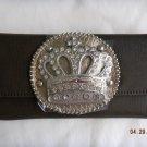 NWT Crown Dark Expresso Rhinestone Wallet