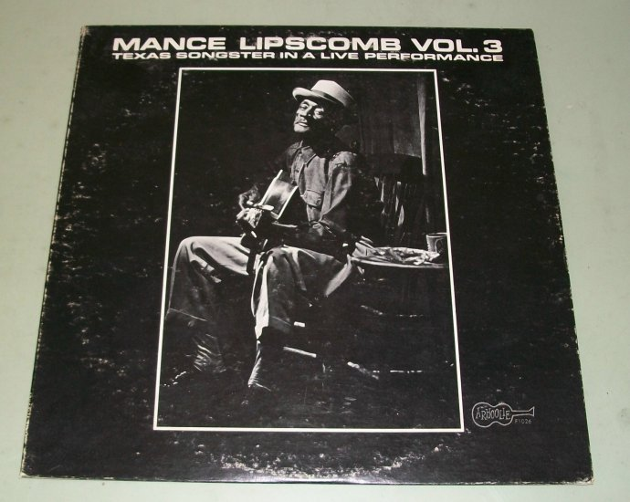 Mance Lipscomb Vol. 3  Texas Songster Live  ARHOOLIE 1026  Blues Record  LP