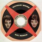 Natalie Wood  Sal Mineo  Rainbo Records  1957 Fan Magazine  HEAR INC  45 rpm Cardboard Picture Disc