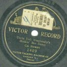 "Cal Stewart  Uncle Josh Huskin' Bee Dance  1901 VICTOR 1489 Record  7"" Diameter  One-Sided"