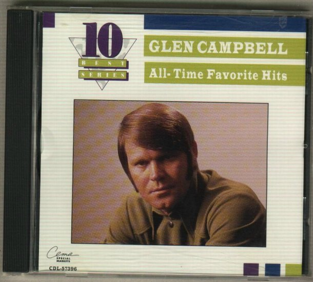 Glen Campbell  All Time Favorite Hits  Country Music  CD