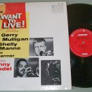 Gerry Mulligan   I Want To Live   Jazz  Sound Track  United Artist UAL 4006 Record  LP