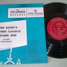 "Gene Autry Western Classics  Volume 1   COLUMBIA HL 9001  Record   10""  LP"
