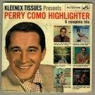 Perry Como Highlighter RCA SPD-28  EP 45 rpm Record w/ Pic Slv