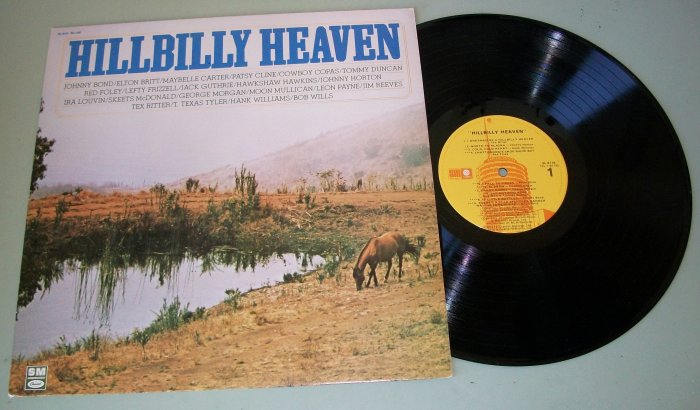 Hillbilly Heaven  Various Country Artist  Patsy Cline Jim Reeves Tex Ritter  Record LP