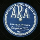 Hoagy Carmichael & Orch. Hong Kong Blues ARA 123 Record 78 rpm  ON HOLD