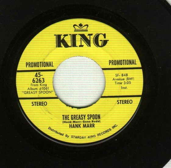 Hank Marr - The Greasy Spoon - KING 6263 - Soul PROMO 45 rpm