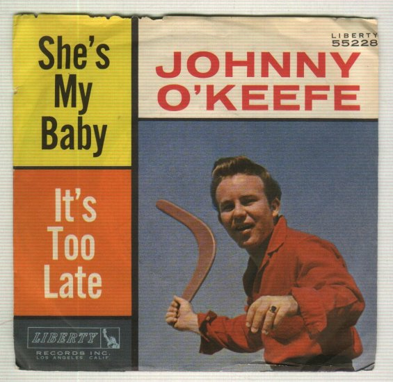 Johnny O'Keefe - She's My Baby - LIBERTY 55228 - PROMO 45 rpm