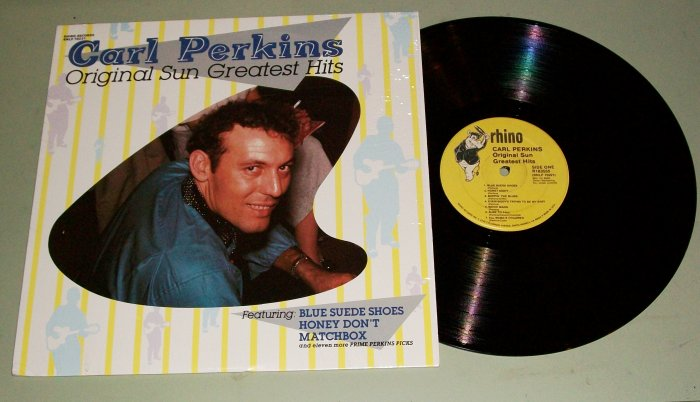 Carl Perkins Original Sun Greatest Hits  LP Record