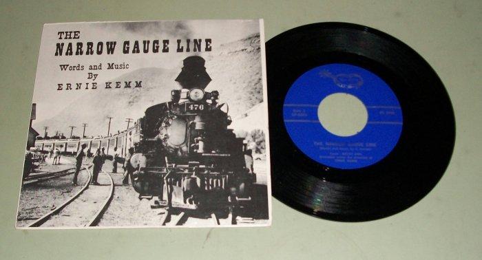 The Narrow Gauge Line - Ernie Kemm - 45 rpm Record & Pic Sleeve