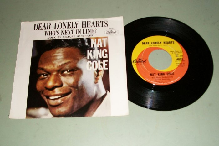 Nat King Cole - Dear Lonely Hearts - Record & Pic Sleeve