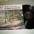 Willy Schneider Sings German Favorites - Record LP