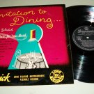 Invitation To Dining - Brunswick 8035 - Record LP - Made In England