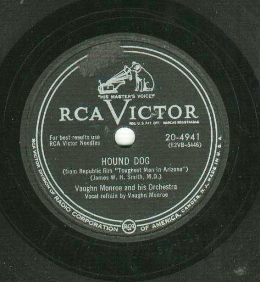 Vaughn Monroe Hound Dog RCA 4941 78 rpm Record