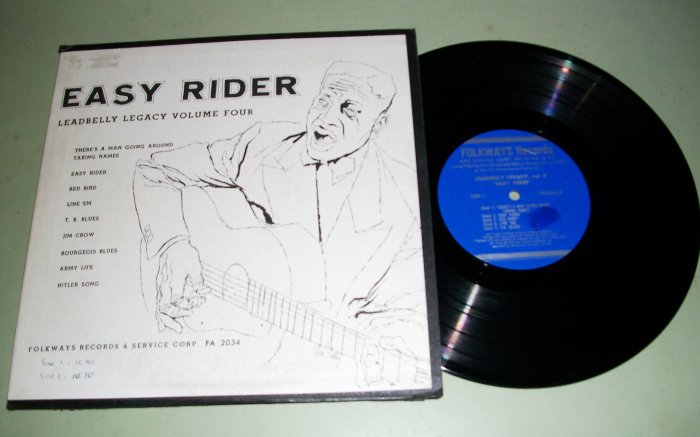 "Leadbelly  Easy Rider  Vol. 4 - FOLKWAYS FA 2034 - 10"" Record LP"