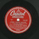 Julia Lee - When You're Smiling / King Size Papa - CAPITOL 40082- 78 rpm Blues Record