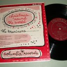 """The mariners - Christmas 'Round The World - 10"""" Record LP"""