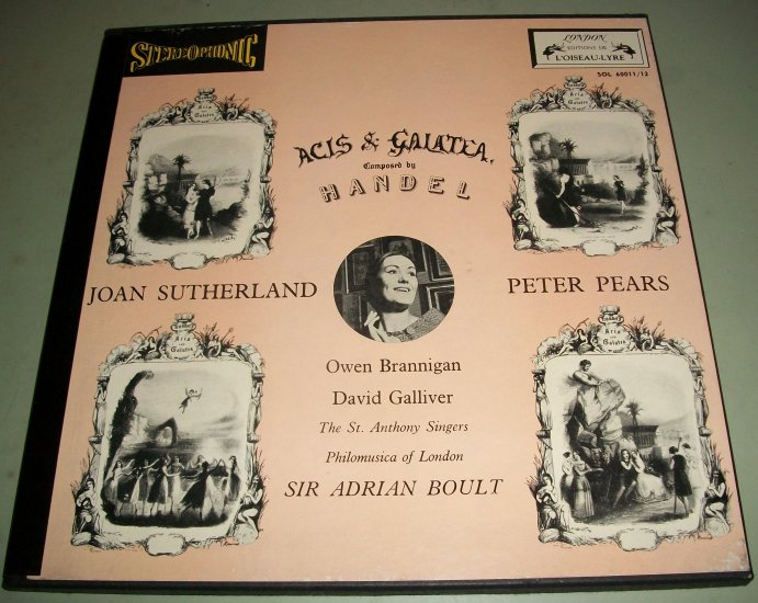 Handel Acis & Galatea London - Blue Back 2 LP Record  STEREO