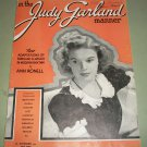 In The Judy Garland Manner - 56 Page Song Book With Pictures - 1940 Issue