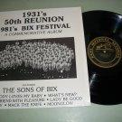 1931  50th Reunion Bix Festival - Bix Beiderbecke -  Jazz Record LP