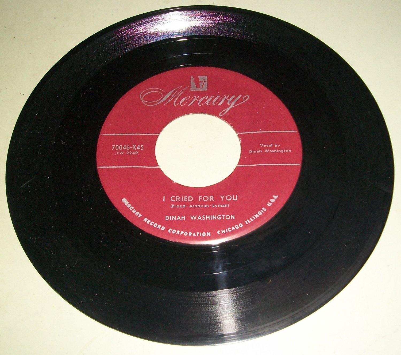 Dinah Washington - I Cried For You / Gamblers Blues - R&B Doo Wop 45 Record
