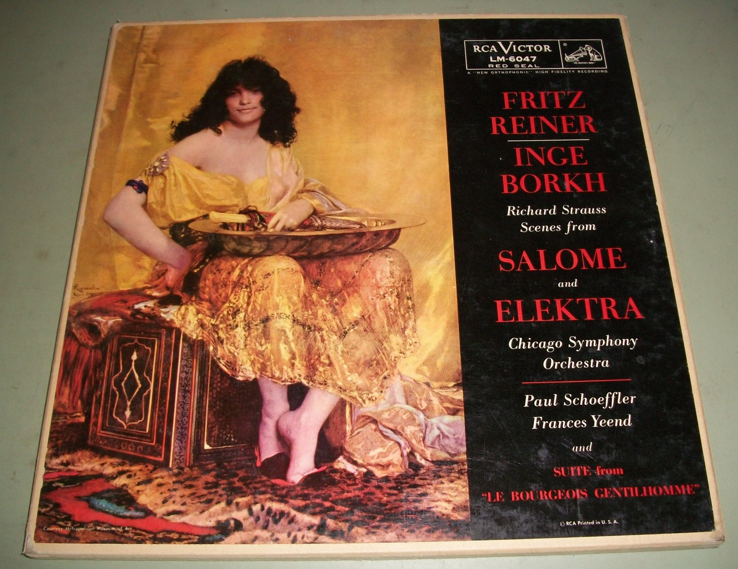 Strauss - Reiner / Borkh -  Scenes From Salome & Electra  RCA LM-6047 - 2 Records LP Box Set