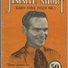 Jimmie Short Radio Song Folio No. 1  -  Original 1943 Issue