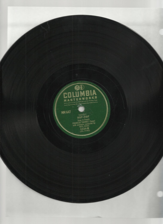 Charles Trenet - Hop Hop / Jardin Du Mois De Mai - COLUMBIA 4434 - Pop 78 rpm