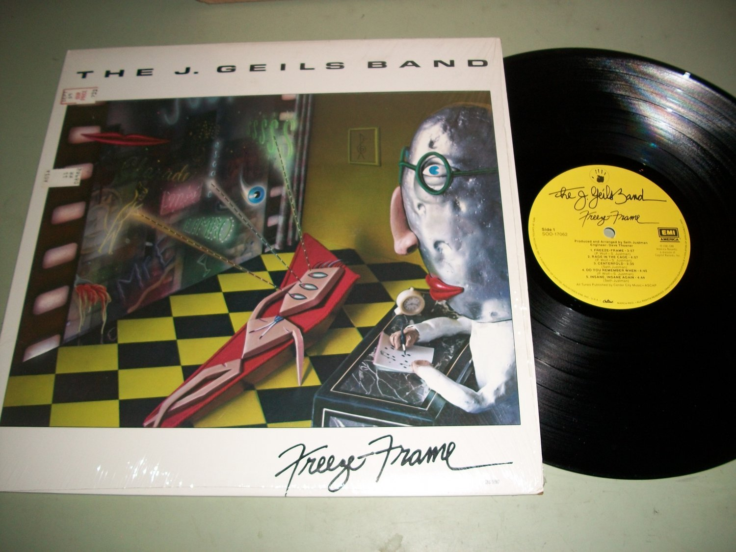 The J. Geils Band - Freeze Frame - EMI 17062 - Art Jacket - Rock LP\'s