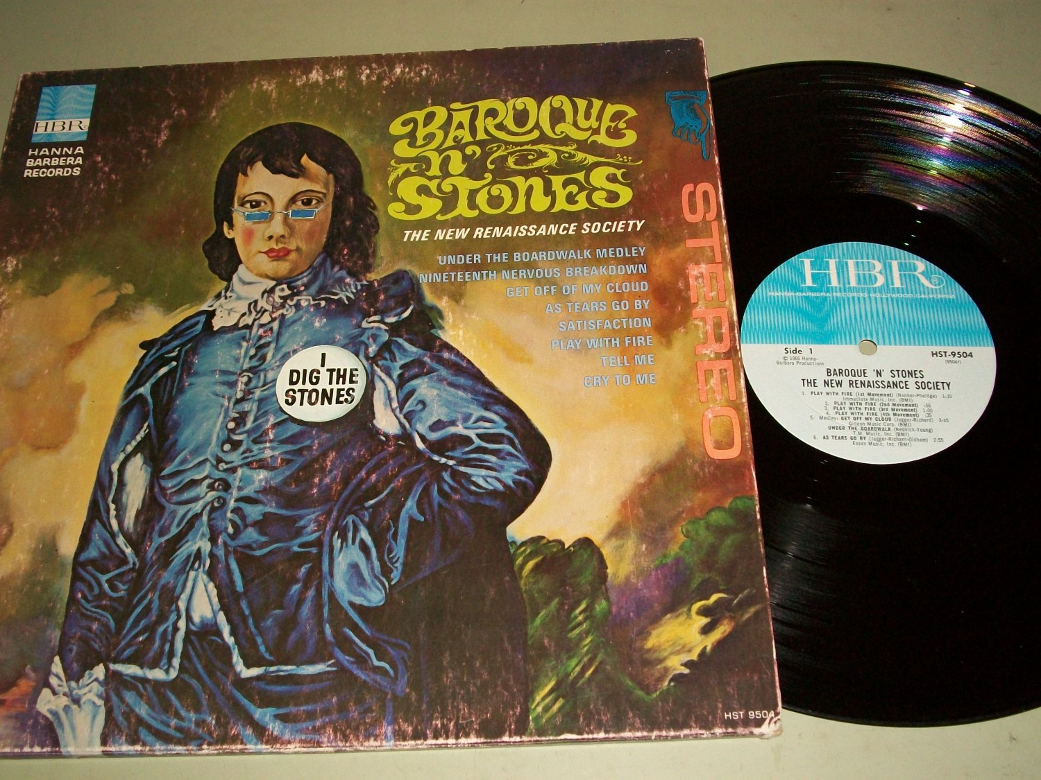 I Dig The Stones - Baroque N' Stones - The New Renaissance Society - HBR 9504 -  Record  LP