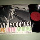 Benny Goodman - Swing Into Spring - COLUMBIA 28994 - Texaco Ad Back  Jazz Record LP