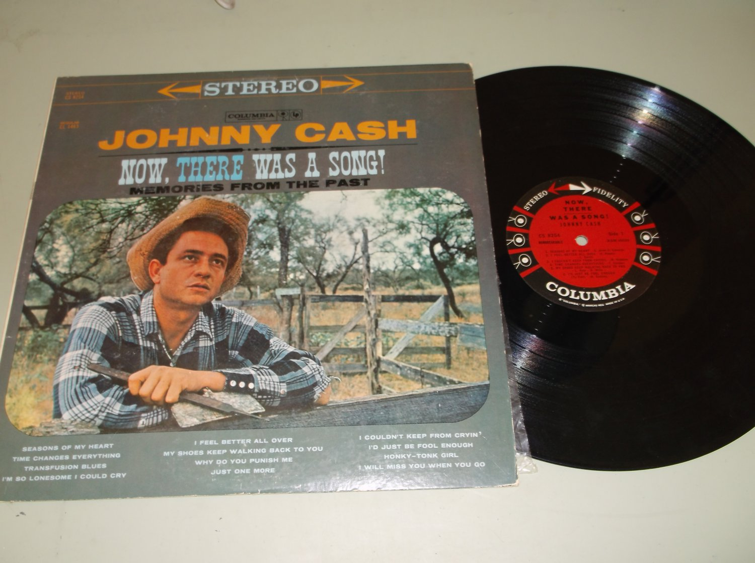 Johnny Cash - Now There Was A Song - COLUMBIA CS-8254 Country Record LP