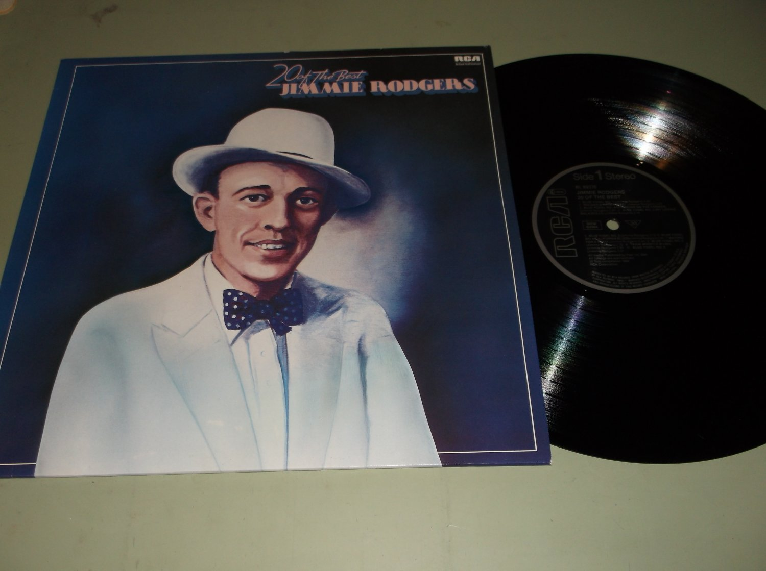 Jimmie Rodgers - 20 Of The Best - RCA 89370 - German Issue Folk LP