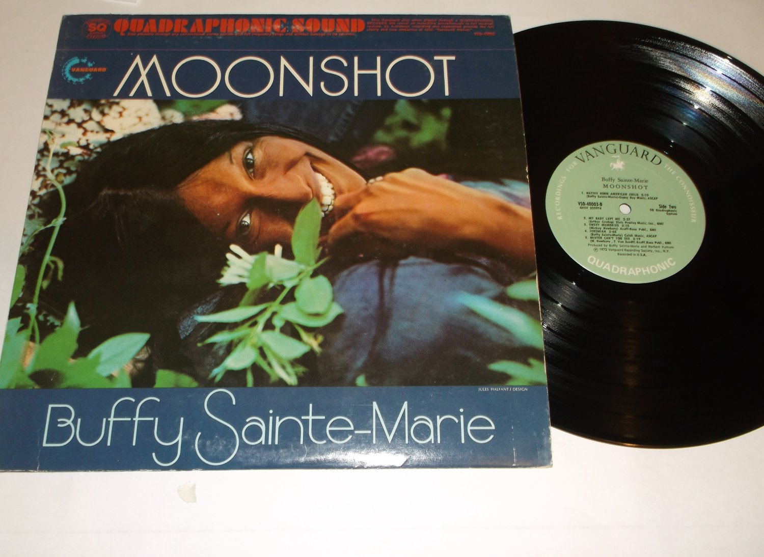 The Best Of Buffy Sainte-Marie - Moonshot - VANGUARD 40003  Folk Quad Records  LP