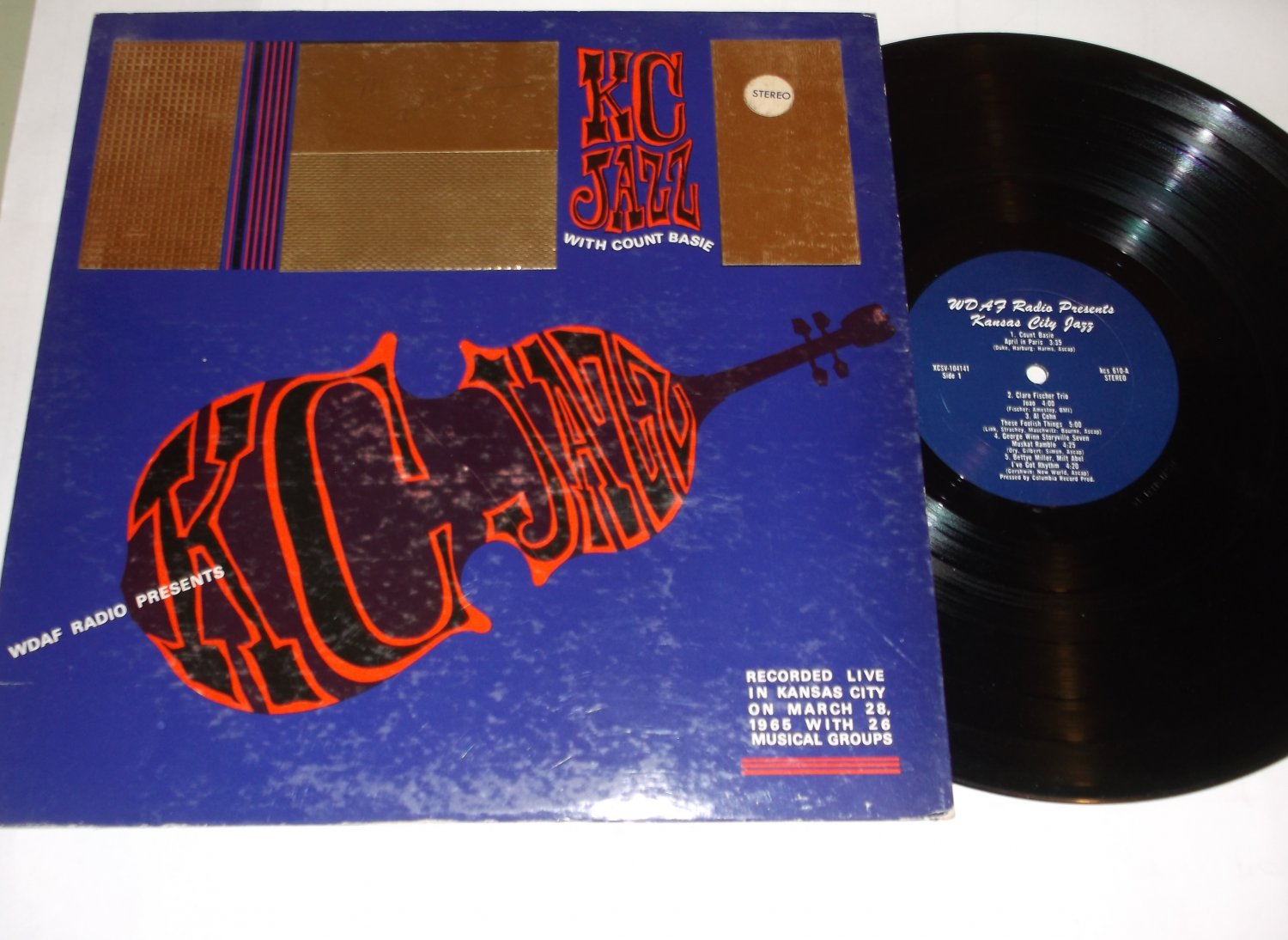 KC Jazz with Count Basie In Kansas City 1965 KDAF Radio Private Label