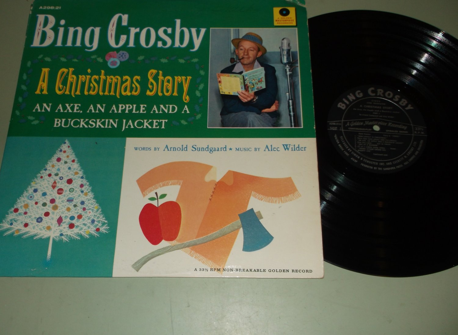 Image result for bing crosby a christmas story -- an ax, an apple and a buckskin jacket