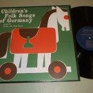 Children's Folk Songs Of Germany  Erika and Elsa Vopel  FOLKWAYS 7742 Record